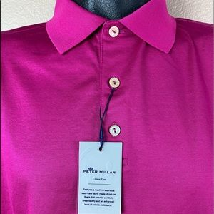 Peter Millar Crown Ease Solid Polo Golf Shirt NEW